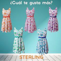 Elige tu mejor opción para esta PRIMAVERA-VERANO <3  VESTIDO SIN MANGA $130.00 Mxn #dress #vestido #vestidocorto #primavera #flores #colores #elige #choose