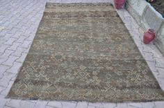 Brown Kilim Rug Vintage Turkish Kilim Rug by SILKROADRUGS on Etsy