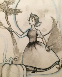 Sketching #Cinderella #illustration #kidlitart pencils #inprocess