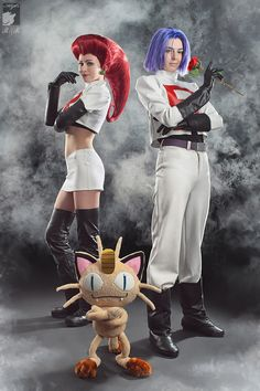 To protect the world from devastation,   To unite all people within our nation,   To denounce the evil of truth and love,   To extend our reach to the stars above     JESSE! JAMES!     Team Rocket blasts off at the speed of light,   Surrender now, or prepare to fight     MEOWTH, that's right!