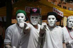 Street Parade Zurich August 2, 2014 Zurich, Switzerland We all Wear a Mask via Fest 300
