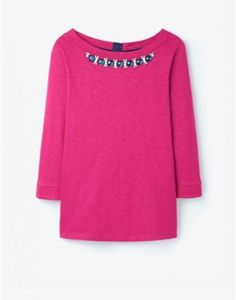 Joules Marnie Embellished Jersey Top in Various Colours