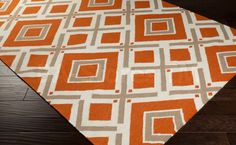 Rugs: Fallon Criss-Cross Pattern Rug in Praline, Orange and Winter White FAL-1086/6  http://www.ba-stores.com/product/fallon-criss-cross-pattern-rug-in-praline-orange-and-winter-white