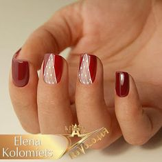 53 Trendy nails red gel shape in 2020 Xmas Nails, Holiday Nails, Red Nails, Christmas Nail Designs, Christmas Nail Art, Cute Nails, Pretty Nails, Red Nail Art, Formal Nails
