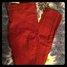 NEW Cute red Hollister skinny jeans Never worn before Hollister red skinny jeans. Soft and comfortable Hollister Jeans Skinny