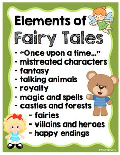 Elements of Fairy Tales - Anchor Chart