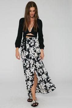 922d05201b13 Flynn Skye Wrap It Up Skirt in Black Out Popular Dresses