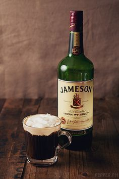 Jameson Irish Whiskey Coffee | Cheers, Mofo!    that's two of my most FAVORITE substances !! Watch out world!