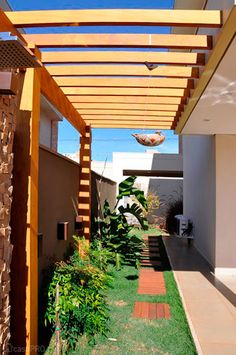 Pergola To House Attachment Design Exterior, Patio Design, Garden Design, Pergola Patio, Backyard Patio, Backyard Landscaping, Outdoor Spaces, Outdoor Living, Outdoor Decor