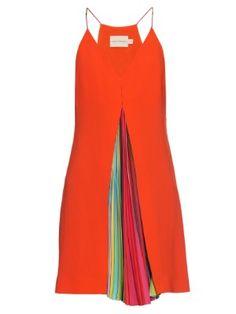 Acer rainbow-stripe crepe dress | Mary Katrantzou | MATCHESFASHION.COM UK