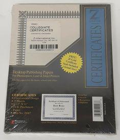 50 Sheet Pack Desktop Publishing Certificate Parchment Paper