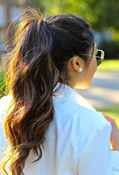 Wavy Ponytail - Easy Back to School Hairstyles to Let You Sleep In Later - Photos