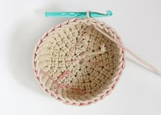crochet basket step three 4
