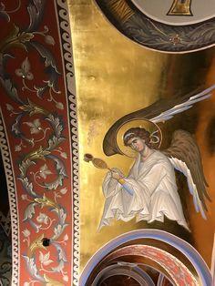 Byzantine Art, Byzantine Icons, Order Of Angels, Orthodox Icons, Religious Art, Fresco, Art History, Painting, Fictional Characters