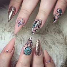 "489 Likes, 1 Comments - Oceannailsupply.com (@oceannailsupply) on Instagram: ""Swarovski crystals available on oceannailsupply.com . . . from @helennails_yeg #Swarovski…"""