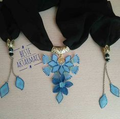 Embroidery On Clothes, Scarf Jewelry, Lace Making, Tassel Necklace, Knots, Elsa, Diy And Crafts, Sewing, Crochet