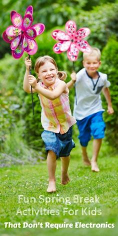 Fun Spring Break Activities For Kids That Don't Require Electronics! AD