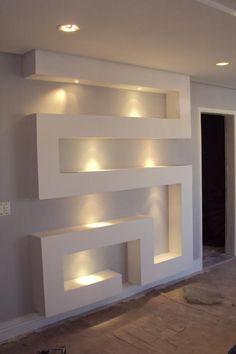 Risultati immagini per nicho gesso Foyer Design, Niche Design, Tv Wall Design, Ceiling Design Living Room, Bedroom False Ceiling Design, Home Ceiling, Living Room Designs, Home Interior Design, Interior Decorating