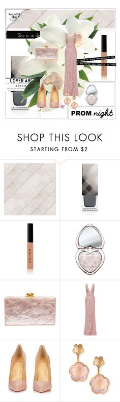"""""""I'll be there for you When the rain starts to pour I'll be there for you Like I've been there before I'll be there for you 'Cause you're there for me too.. (my prom song)"""" by zoe-keredy ❤ liked on Polyvore featuring Burberry, Bobbi Brown Cosmetics, Too Faced Cosmetics, Edie Parker, Elie Saab, Christian Louboutin, Pasquale Bruni and Friend of Mine"""