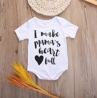 Wish | Lovely Newborn Kids Baby Infant Boy Girl 100% Cotton Bodysuit Romper Jumpsuit Outfit Clothes