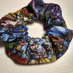 #Disney scrunchies! Beauty and the Beast, Mickey Mouse, Minnie Mouse, Star Wars Check them out in my Etsy shop https://www.etsy.com/listing/587440148/disney-scrunchies-handmade-hair-ties