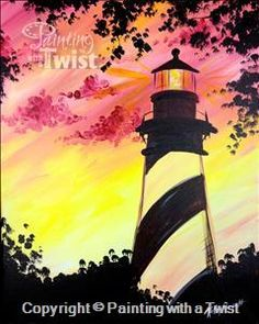 Augustine Lighthouse – Murfreesboro, TN Painting Class – Painting with a Twi… St. Augustine Lighthouse – Murfreesboro, TN Painting Class – Painting with a Twist Diy Painting, Painting & Drawing, Meaningful Paintings, Lighthouse Painting, Desenho Tattoo, Paint And Sip, Easy Paintings, Acrylic Paintings, Paint Party