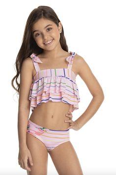 Little Girl Swimsuits, Cute Little Girl Dresses, Cute Young Girl, Beautiful Little Girls, Cute Little Girls, Bikini Girls, Bikini Set, Bikini Tops, Bandeau Bikini