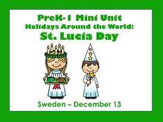 St Lucia Day - Holidays Around the World - PreK-1