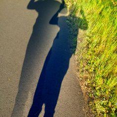 My evening walk my double shadow
