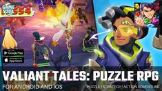 Valiant Tales: Puzzle RPG Gameplay | Strategy Adventure | Gamesoda - YouTube Free Mobile Games, Game Logo Design, Puzzle, Adventure, Youtube, Rpg, Puzzles, Adventure Movies, Adventure Books