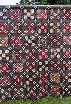 Humble Quilts from the Coburg Quilt Show--Love the Red, Pink and Browns with black, and the punch of cheddar!