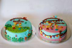 twee prachtige verjaardagtaarten met Gonnie het gansje