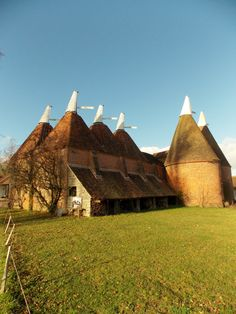 Kentish Oast houses in the grounds of Sissinghurst Castle, Kent, England, By B Lowe