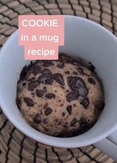 Mug Recipes, Fun Baking Recipes, Sweet Recipes, Cookie Recipes, Dessert Recipes, Healthy Cookies, Yummy Cookies, Microwave Cookie Dough, Midnight Cravings
