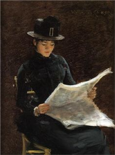 The Morning News by   William Merritt Chase