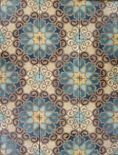 These tiles are gorgeous....ohhhh future home you will be lucky!