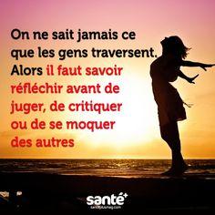 #citations #vie #amour #couple #amitié #bonheur #paix #esprit #santé #jeprendssoindemoi sur: www.santeplusmag.com Proverbs Quotes, French Quotes, So True, Good Vibes, Life Is Good, Affirmations, Wisdom, Positivity, Humor