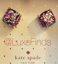 We're giving away 2 pairs of these gorgeous kate spade multi glitter stud earrings!  One for you and one for your bestie!  Just follow @luxefinds on Instagram and tag your bestie to enter!