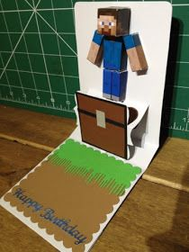 Old Red Shed: Pop n cut minecraft card...
