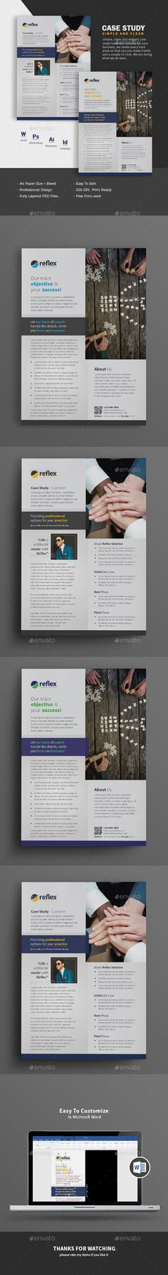 Clean Case Study Template  Templates    Template