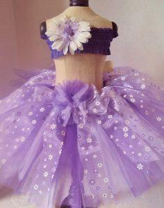 Purple Daisy Tutu Ready to Ship by AThingOrTutu on Etsy, $25.00