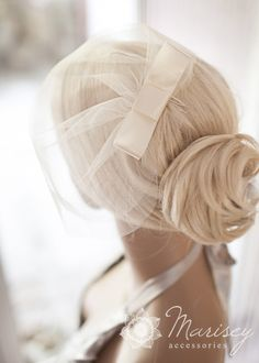 Double layer birdcage illusion tulle veil by MariseyAccessories, $22.00