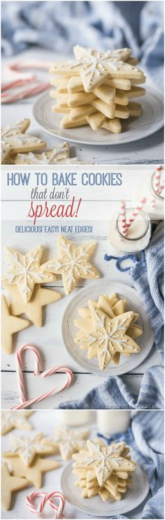 Learn the secrets to baking cutout cookies with neat edges, that won't spread as they bake! You'll fall in love with baking and decorating cutout cookies.
