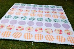 Outdoor twister and picnic quilt combo