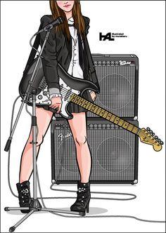 Girls Guitarist / Stratocaster