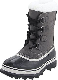 65c845a79e Sorel Women's Caribou Boot: Soft nubuck pairs with a rugged waterproof  rubber shell on these timeless, utilitarian Sorel boots. The removable felt  ...