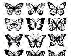 Butterfly Stencil, Butterfly Drawing, Butterfly Template, Butterfly Embroidery, Butterfly Watercolor, Wreath Watercolor, Mini Tattoos, Leg Tattoos, Body Art Tattoos