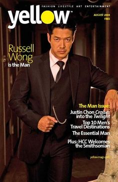 (@ Yellowmag) // The timepiece distinguishes the overall look of the three piece suit worn by Russell Wong, actor. #accessorize