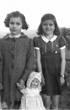 Patsy Cline is on the right, at seven years old.