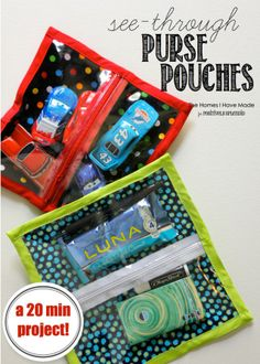 See-Through Purse Pouches - Simple Sewing Project To Keep Any Bag Organized